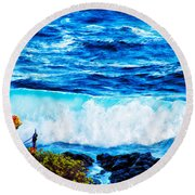 Sacred Place Round Beach Towel