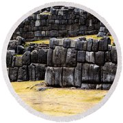 Sacsayhuaman  Round Beach Towel