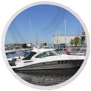 Safe Harbor Series 02 Round Beach Towel
