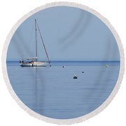 Safe Harbour 1 Round Beach Towel