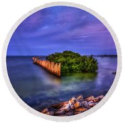 Safe Haven Round Beach Towel by Marvin Spates