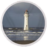 Safely Past Round Beach Towel