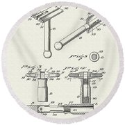 Safety Razor Patent 1937 Round Beach Towel