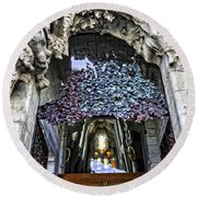 Sagrada Familia Doors - Barcelona - Spain Round Beach Towel