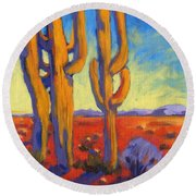 Desert Keepers Round Beach Towel