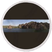 Saguaro Lake Round Beach Towel