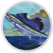 Sail Away Off0014 Round Beach Towel
