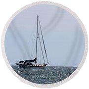 Sail Away Round Beach Towel
