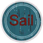 Sail Round Beach Towel
