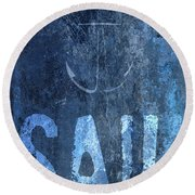 Sail On Round Beach Towel
