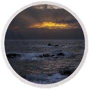 Sail Rock Sunrise 2 Round Beach Towel