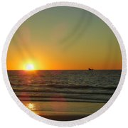 Sail To The Horizon  Round Beach Towel