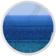 Sailboat 1 Round Beach Towel