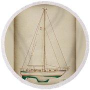 Sailboat 42 Round Beach Towel