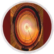 Sailboat Abstract Round Beach Towel