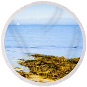 Sailboat Off The Ovens Round Beach Towel