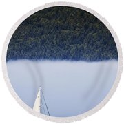 Sailboat Tranquility Round Beach Towel