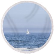 Sailboats Round Beach Towel