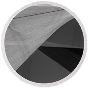 Sailcloth Abstract Number 9 Round Beach Towel by Bob Orsillo