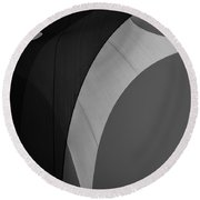 Sailcloth Abstract Number Eight Round Beach Towel