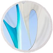 Sailcloth Abstract Number Twenty Round Beach Towel