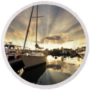 Sailed In Round Beach Towel