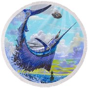 Sailfish Football Off0030 Round Beach Towel