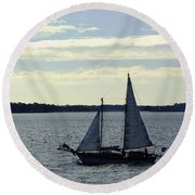 Sailin Round Beach Towel