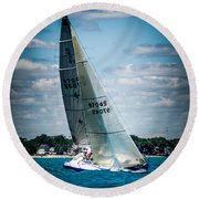 Sailing 97045 Round Beach Towel