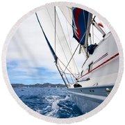 Sailing Bvi Round Beach Towel