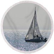 Sailing Free Round Beach Towel