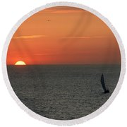 Sailing From The Sun Round Beach Towel