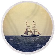 Sailing II Round Beach Towel by Angela Doelling AD DESIGN Photo and PhotoArt