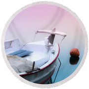 Sailing In A Sea Of Colors  Round Beach Towel
