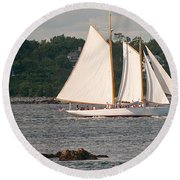 Sailing Portland Round Beach Towel