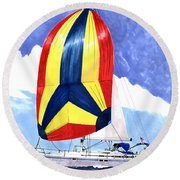 Sailing Primary Colores Spinnaker Round Beach Towel