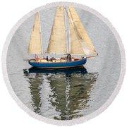 Sailing Puget Sound Round Beach Towel