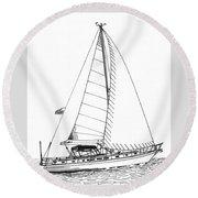 Sailing Sailing Sailing Round Beach Towel