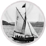 Sailing Ship Cutter Round Beach Towel