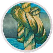Sailor Knot 9 Round Beach Towel