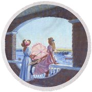 Sailor's Watch Round Beach Towel