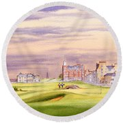 Saint Andrews Golf Course Scotland - 17th Green Round Beach Towel