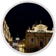 Saint Blaise Church - Dubrovnik Round Beach Towel