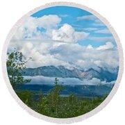 Saint Elias Mountains In Kluane National Park-yk  Round Beach Towel