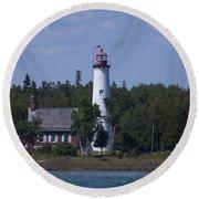 Saint Helena Lighthouse 2 Round Beach Towel
