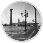 Saint Mark Square, Venice, Italy Round Beach Towel