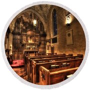 Saint Marks Episcopal Cathedral Round Beach Towel
