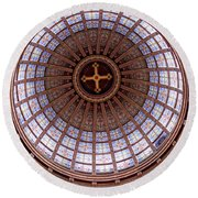 Saint Nicholas Church Dome Interior In Amsterdam Round Beach Towel