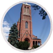 Saint Patrick's Church Round Beach Towel