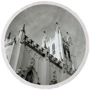 Saint Paul Cathedral In Cathedral Round Beach Towel